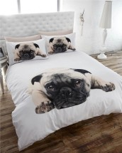 Sad Pug Double Duvet Set