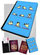 Yoga Pug Passport Cover