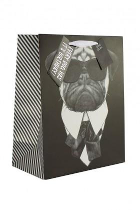 Large Pug Gift Bag