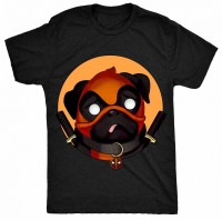Unisex Deadpool Pug T Shirt