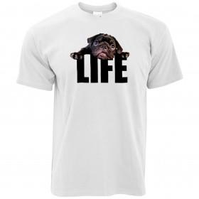 Unisex Black Pug Life T Shirt