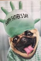 Cute & Funny Pug Fathers Day Card