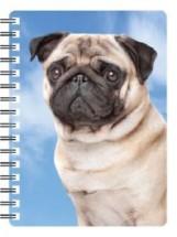 3D Fawn Pug Notebook