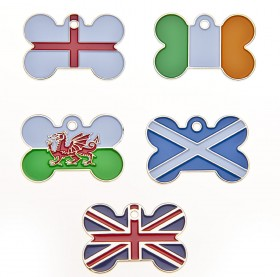 Bone Shaped Flag Charms