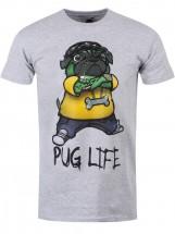 Mens Zombie Pug Life T Shirt