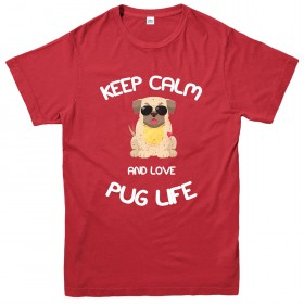 Keep Calm Unisex Pug T Shirt (Available in 3 colours)