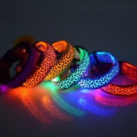 Led Light Up Leopard Print Collars (Available in 6 colours)