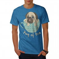 Mug Of Tea Pug Unisex T Shirt (Available in 5 colours)