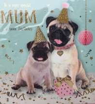 Pug Mum Birthday Card