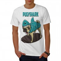 Pugy Shark Mens Pug Unisex T Shirt (Available in 5 colours)