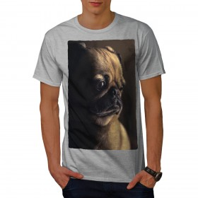 Sad Mens Pug Unisex T Shirt (Available in 5 colours)