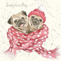 Lovely Pug Christmas Card