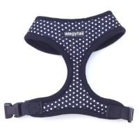 Black Polka Dot Wagytail Harness