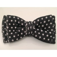 White & Black Unisex Bow Tie