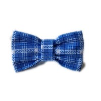 Blue Checked Bow Tie