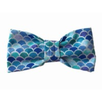 Blue Unisex Mermaid Luxury  Bow Tie