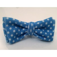 Blue Polka Dot Unisex Bow Tie