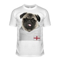Kids England Pug Football T Shirt