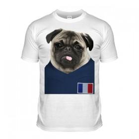 Kids France Pug Football T Shirt