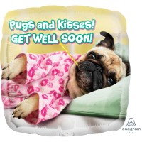 Pug Get Well Soon  Balloon