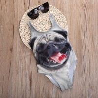 Girls Pug Swimsuit