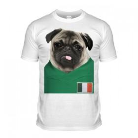 Kids Ireland Pug Football T Shirt