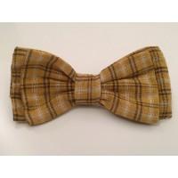 Mustard Tartan Unisex Bow Tie