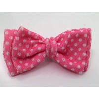 Pink Polka Dot Unisex Bow Tie