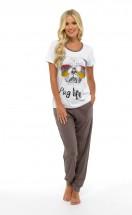 Ladies Pug Life PJ Set