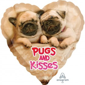 Pugs & Kisses Ballon For All Occasions