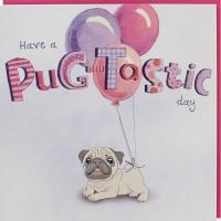 Cute Pug Birthday Card