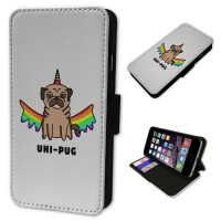 Rainbow Pug Unicorn iPhone Case