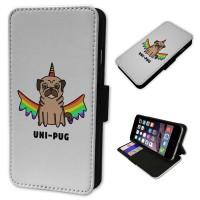 Rainbow Pug Unicorn iPhone Case