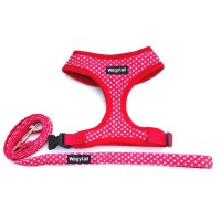 Red Polka Dot  Wagytail Harness & Matching Lead