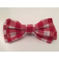 Red Gingham Unisex Bow Tie