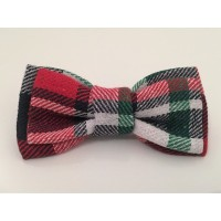 Red & Navy Gingham Unisex Bow Tie