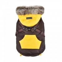 Puppia Brown Orson Fleece Lined Coat