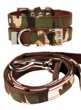 Urban Pup Camo Print Collar & Lead Set