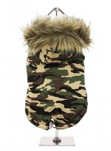 Camo Parka Hooded Coat