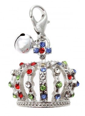 Silver Crown Jewel Charm