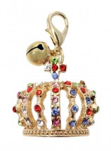 Gold Crown Jewel Charm