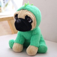 Green Dinosaur Pug Plush Toy