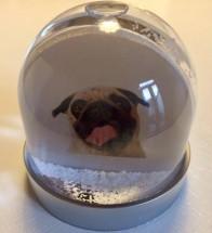 Christmas Pug Snow Globe