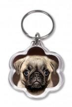 Cute Pug Keyring