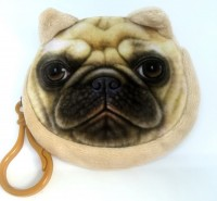 Fluffy Pug Coin Pouch Bag
