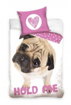 Cute Pug Single Duvet Set