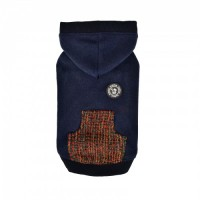 Puppia Mason Fleece Lined Navy Sweater