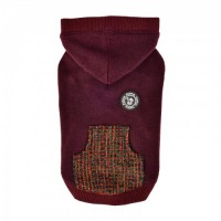 Puppia Mason Fleece Lined Burgandy Sweater