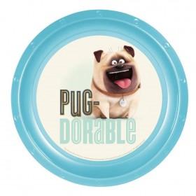 Mel The Pug Plastic Plate