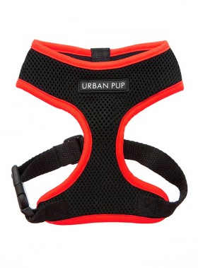 Neon Red Rimmed Urban Pup Harness